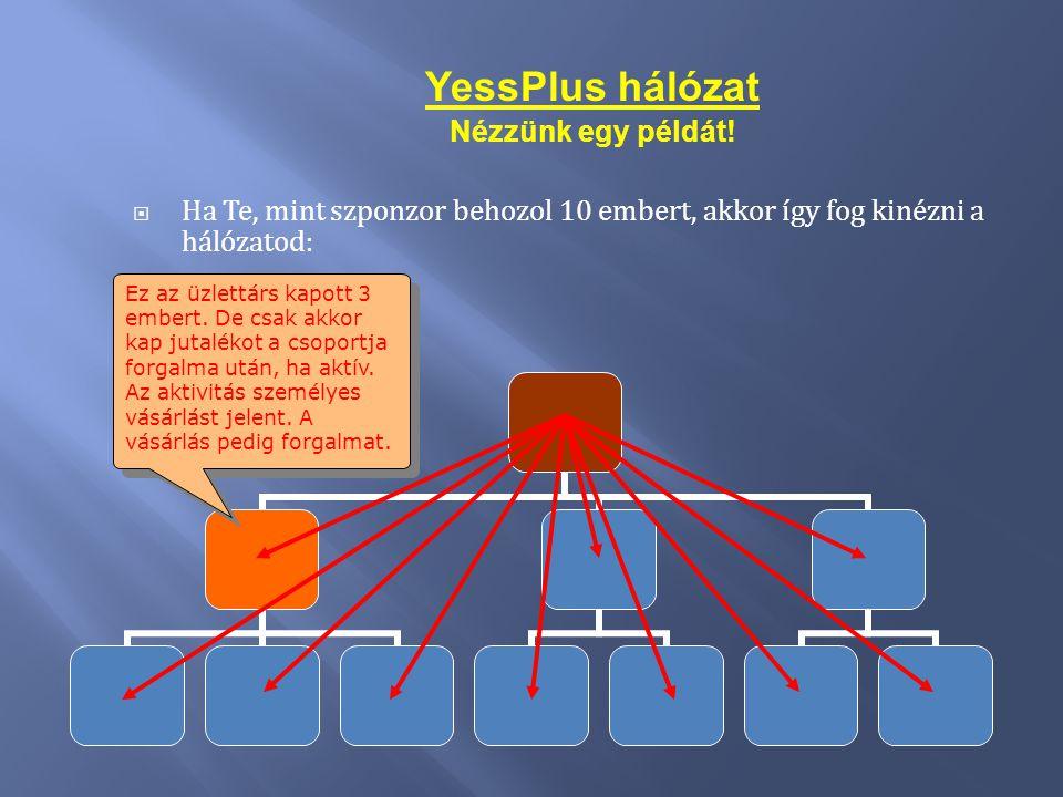 YessPlus hálózat Nézzünk egy példát!