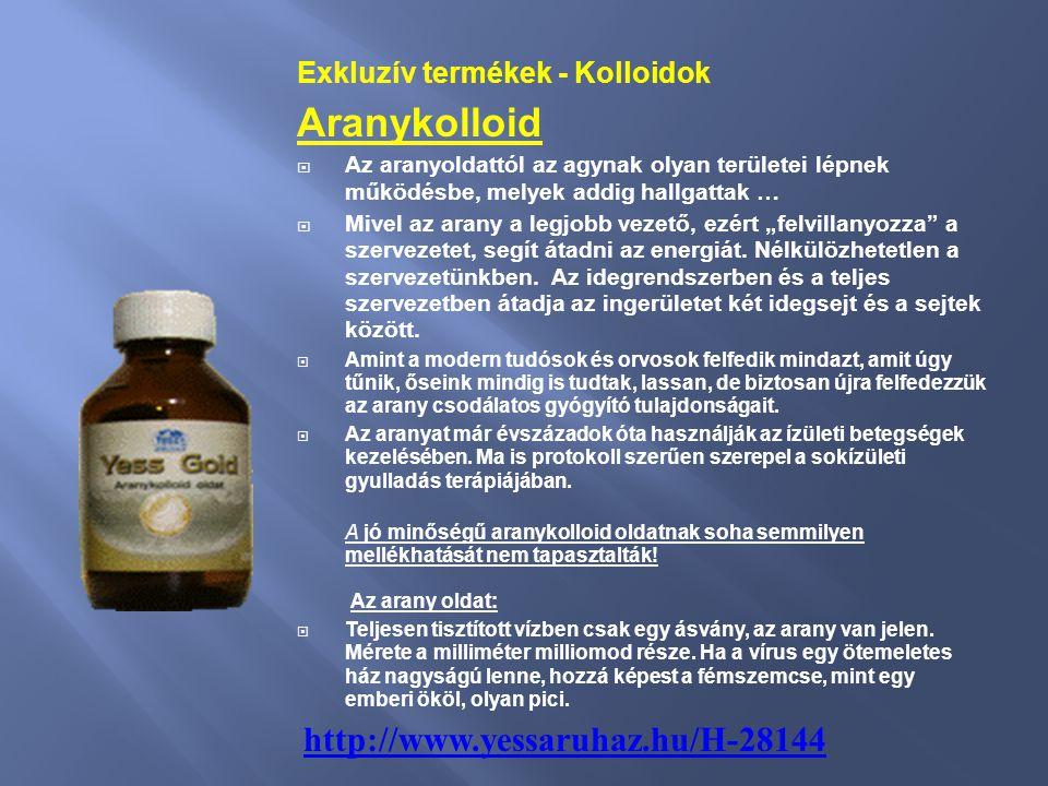 Aranykolloid Exkluzív termékek - Kolloidok