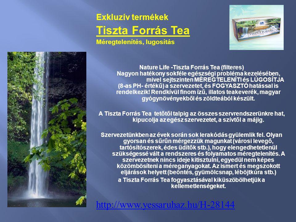 Tiszta Forrás Tea http://www.yessaruhaz.hu/H-28144 Exkluzív termékek