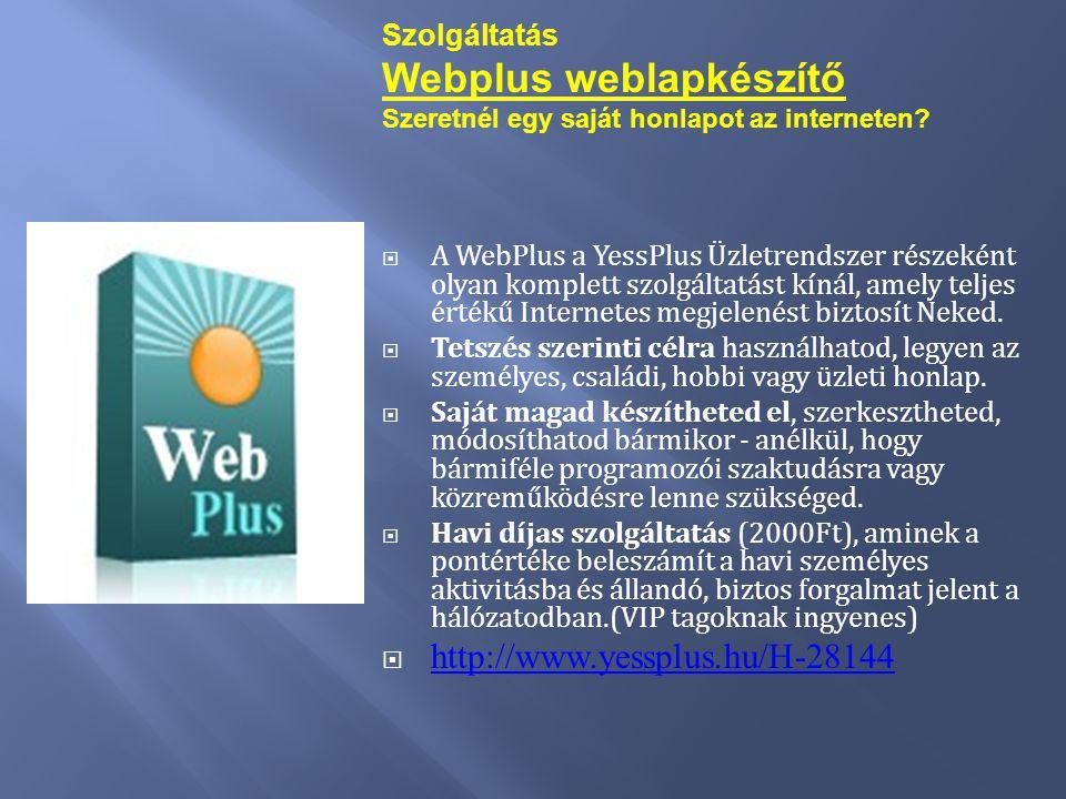 Webplus weblapkészítő