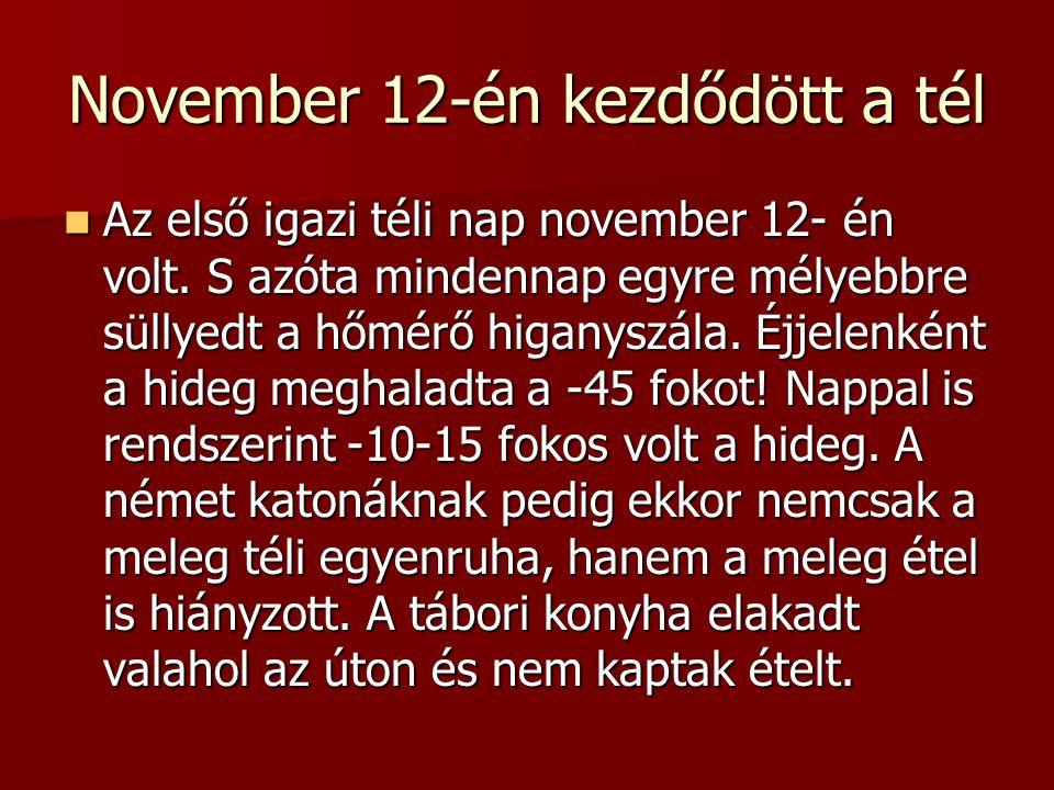 November 12-én kezdődött a tél