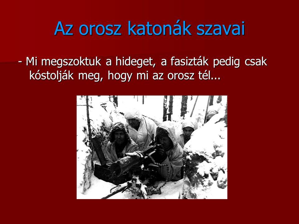 Az orosz katonák szavai