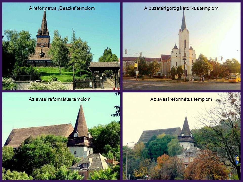 """A református """"Deszka templom A búzatéri görög katolikus templom"""