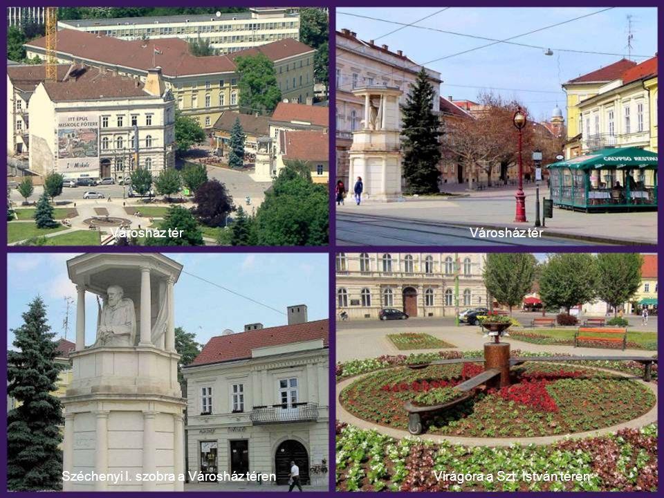 Széchenyi I. szobra a Városház téren Virágóra a Szt. István téren