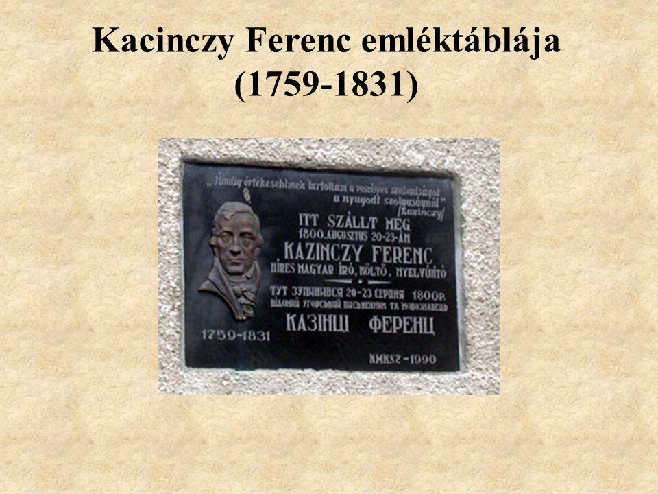 Kacinczy Ferenc emléktáblája (1759-1831)