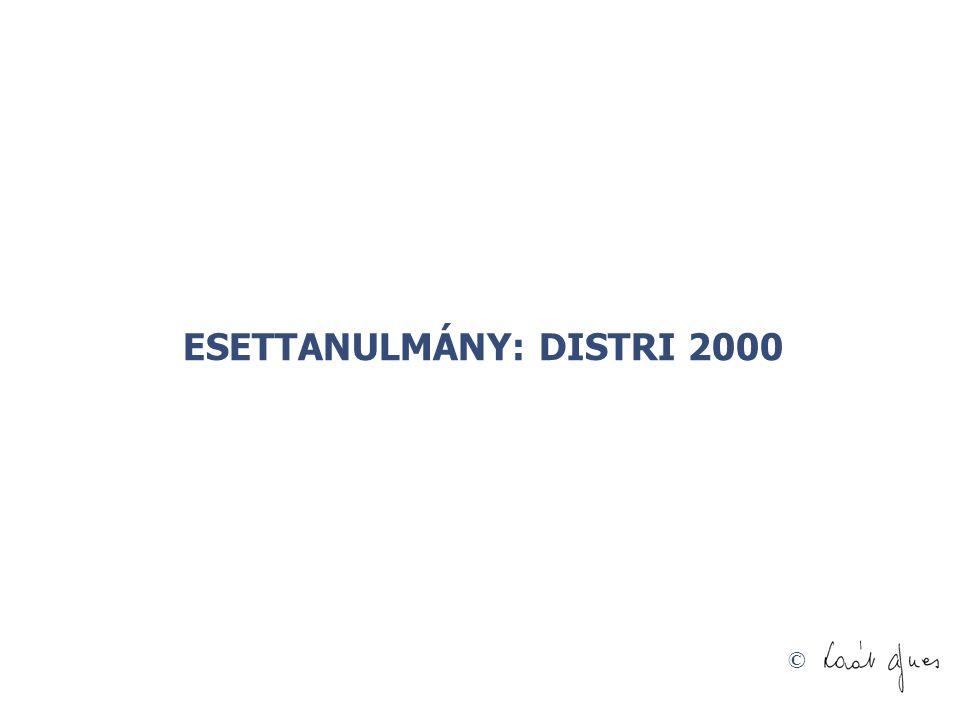 ESETTANULMÁNY: DISTRI 2000