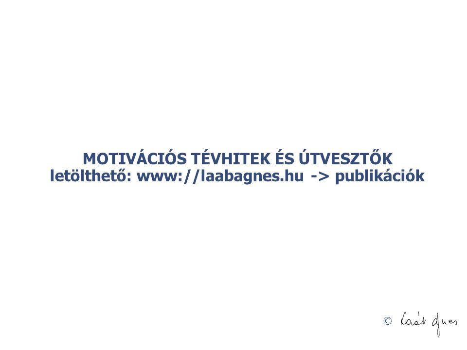 MOTIVÁCIÓS TÉVHITEK ÉS ÚTVESZTŐK letölthető: www://laabagnes