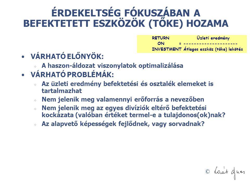 ÉRDEKELTSÉG FÓKUSZÁBAN A BEFEKTETETT ESZKÖZÖK (TŐKE) HOZAMA