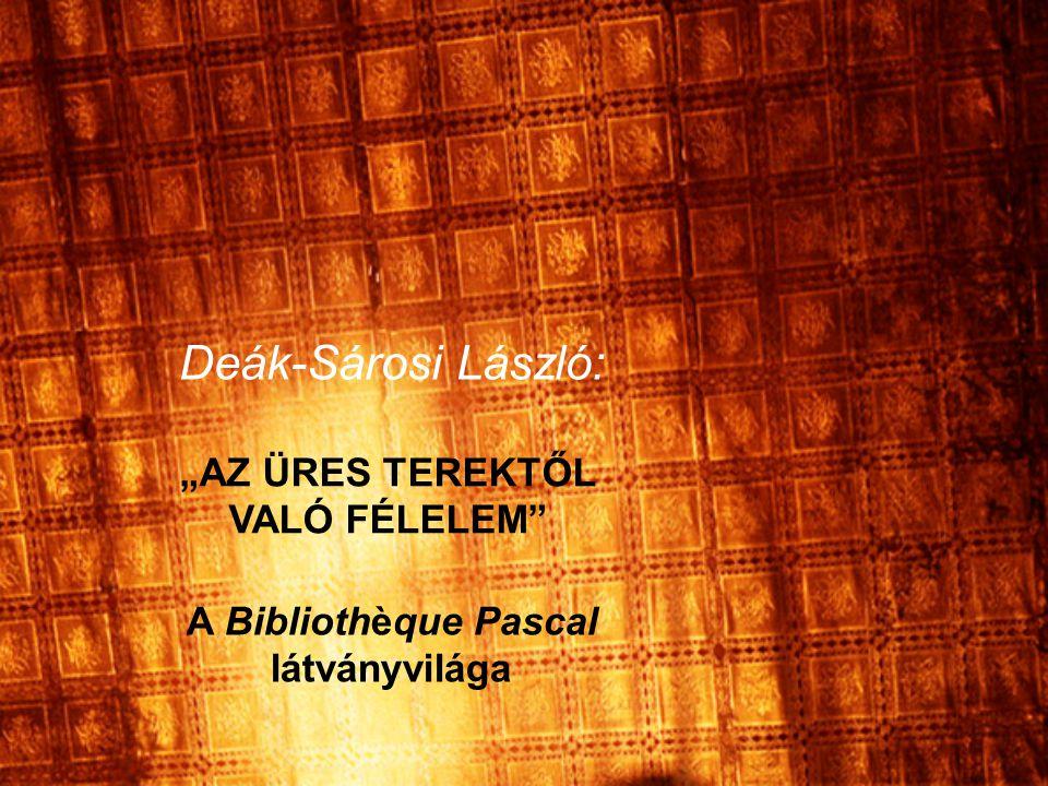 """""""AZ ÜRES TEREKTŐL VALÓ FÉLELEM A Bibliothèque Pascal látványvilága"""