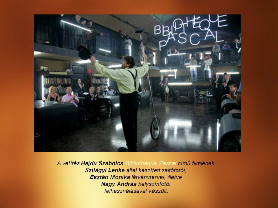 A vetítés Hajdu Szabolcs Bibliothèque Pascal című filmjének