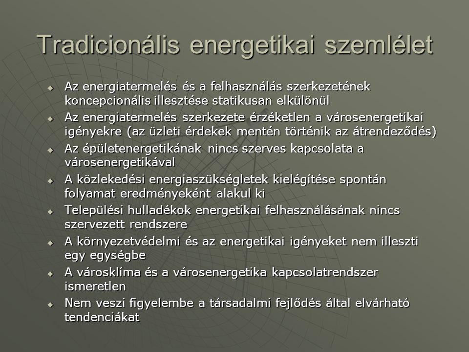 Tradicionális energetikai szemlélet