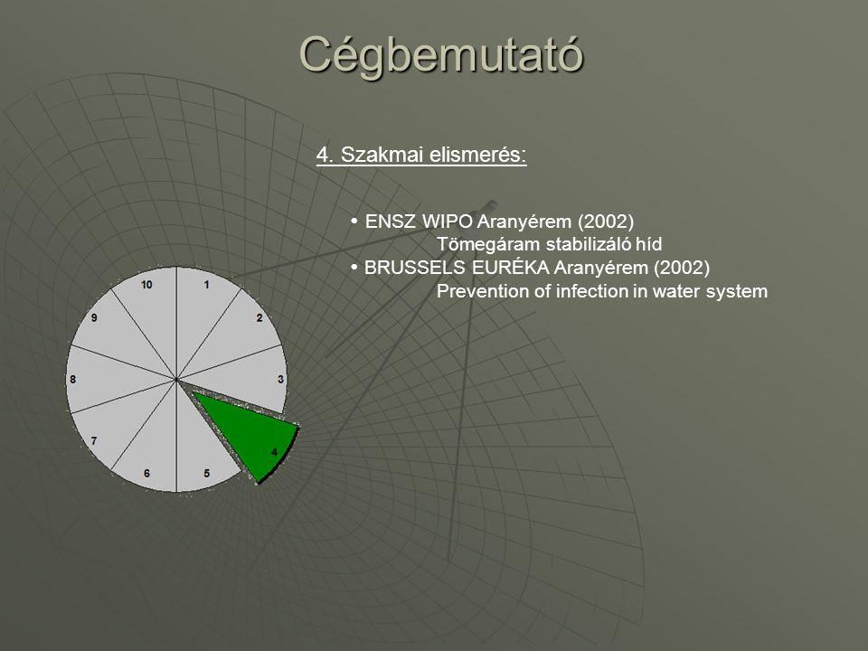 Cégbemutató 4. Szakmai elismerés: ENSZ WIPO Aranyérem (2002)
