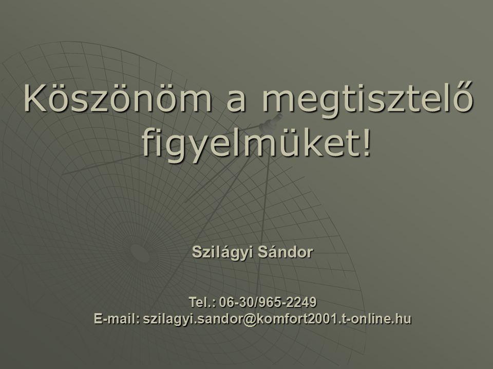 E-mail: szilagyi.sandor@komfort2001.t-online.hu
