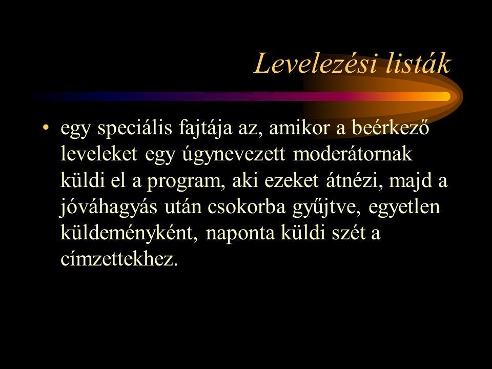 Levelezési listák
