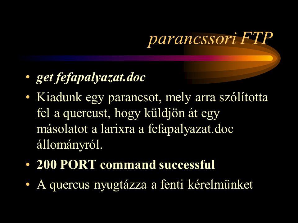 parancssori FTP get fefapalyazat.doc