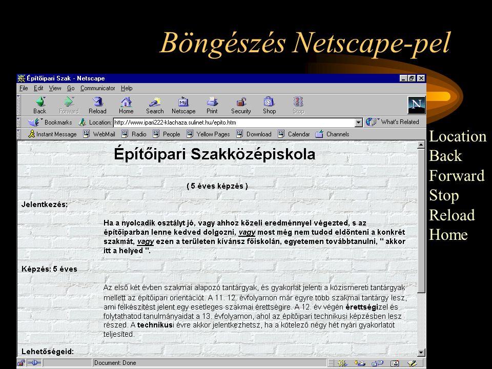Böngészés Netscape-pel