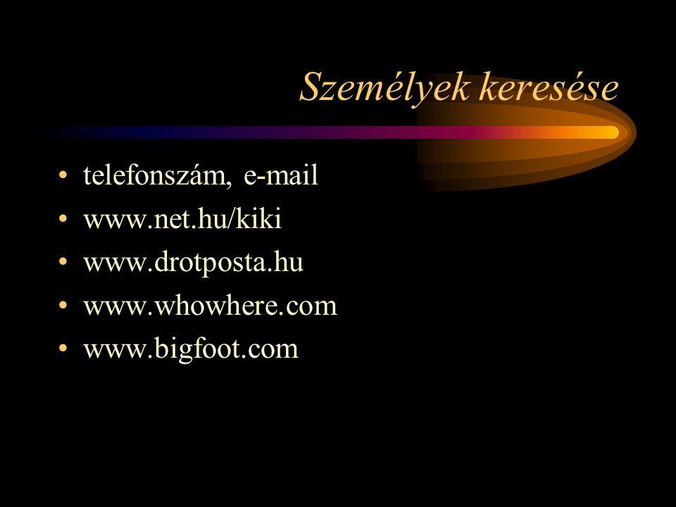 Személyek keresése telefonszám, e-mail www.net.hu/kiki