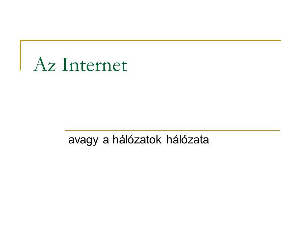 avagy a hálózatok hálózata