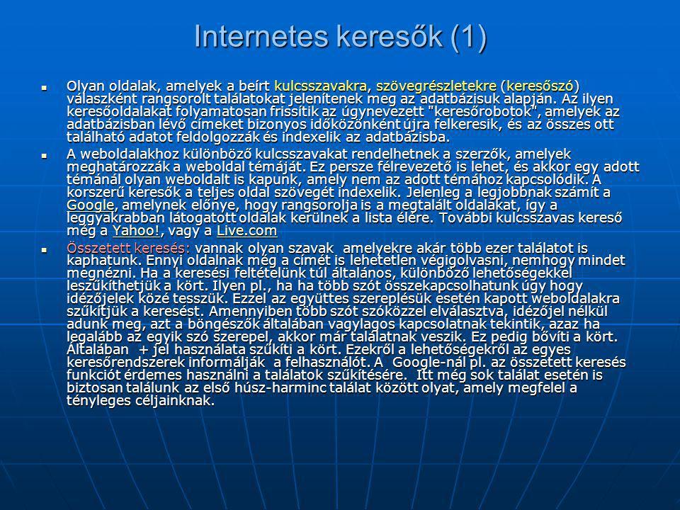 Internetes keresők (1)