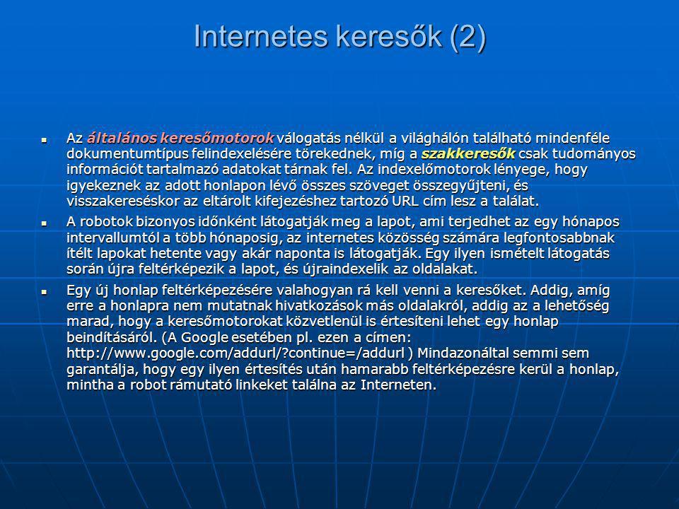 Internetes keresők (2)