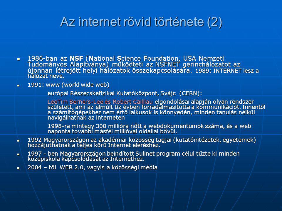 Az internet rövid története (2)
