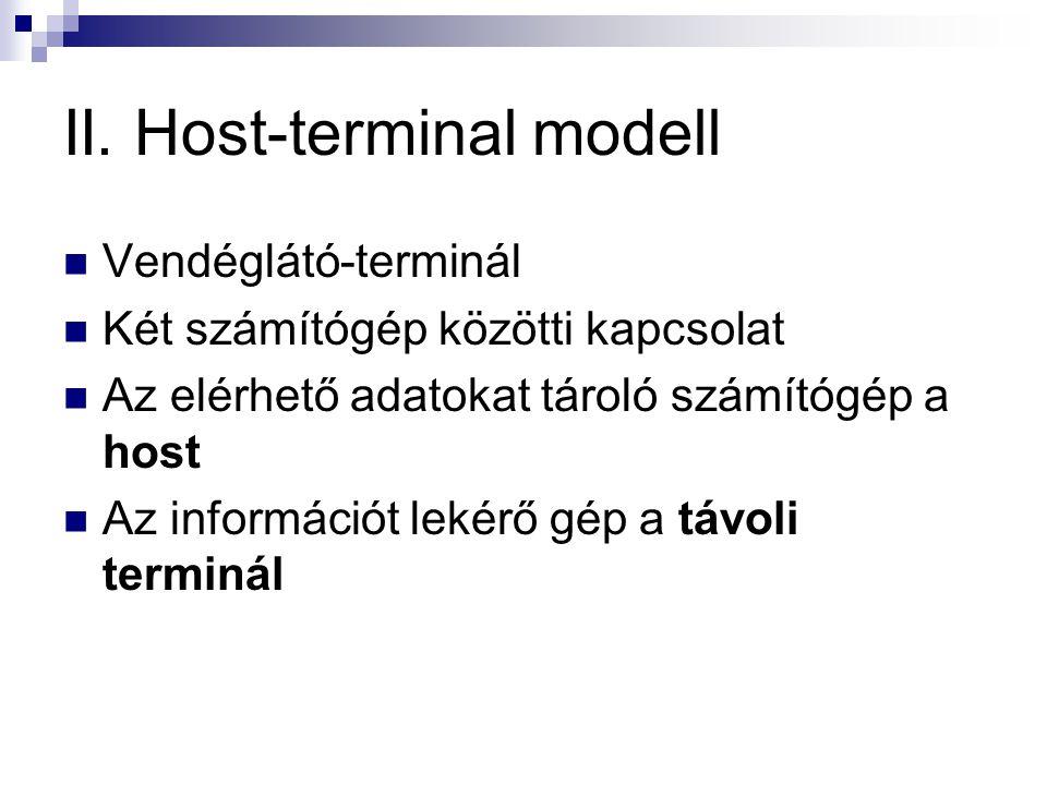 II. Host-terminal modell