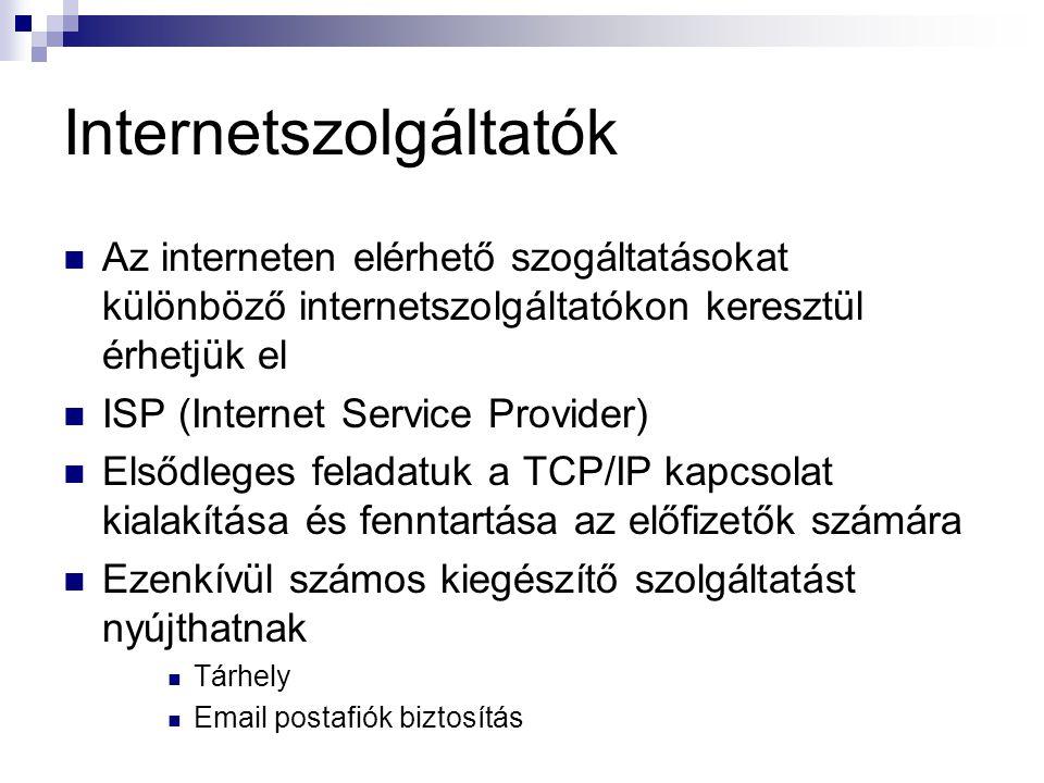 Internetszolgáltatók