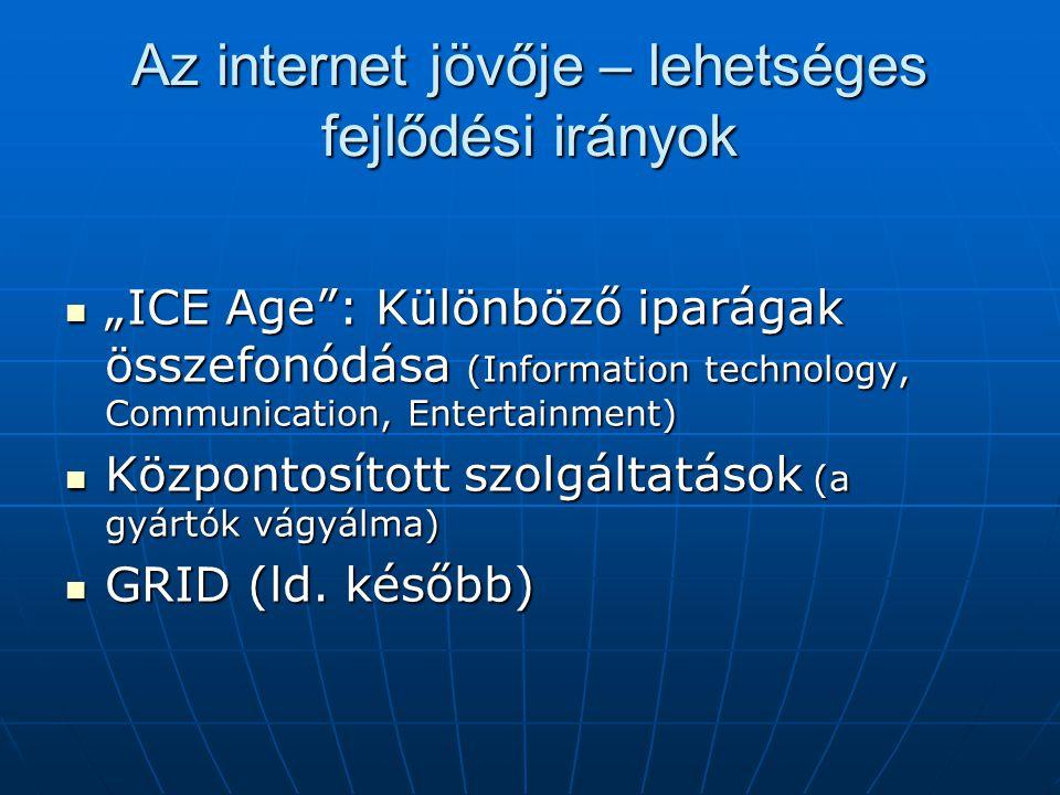 Az internet jövője – lehetséges fejlődési irányok