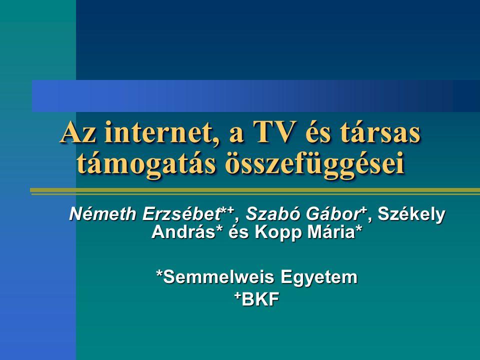 Az internet, a TV és társas támogatás összefüggései