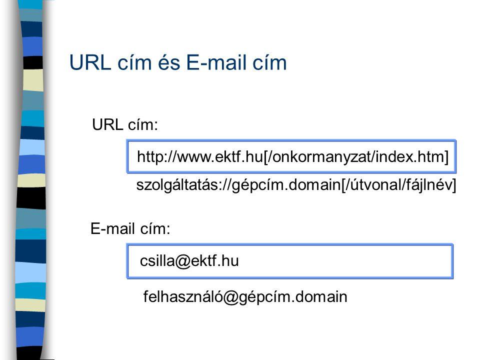 URL cím és E-mail cím URL cím: