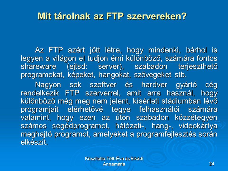 Mit tárolnak az FTP szervereken
