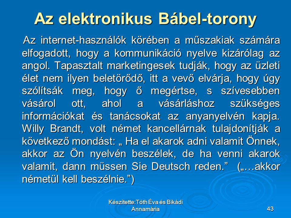 Az elektronikus Bábel-torony