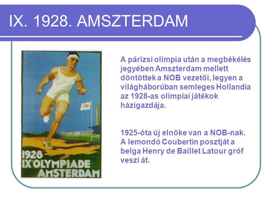 IX. 1928. AMSZTERDAM