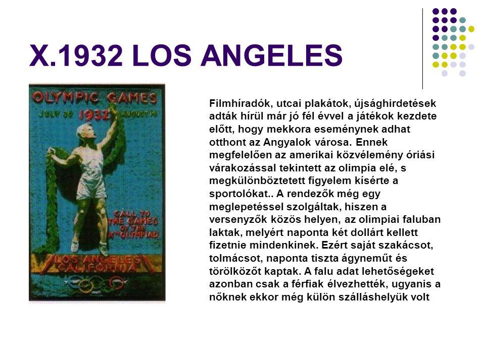 X.1932 LOS ANGELES