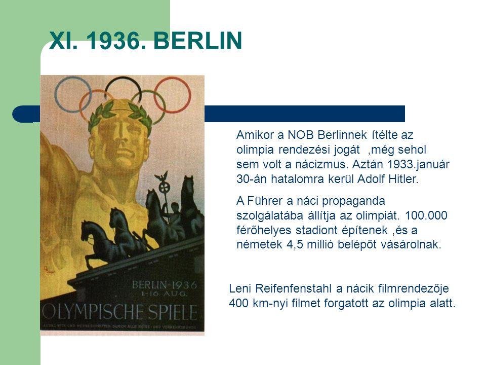 XI. 1936. BERLIN