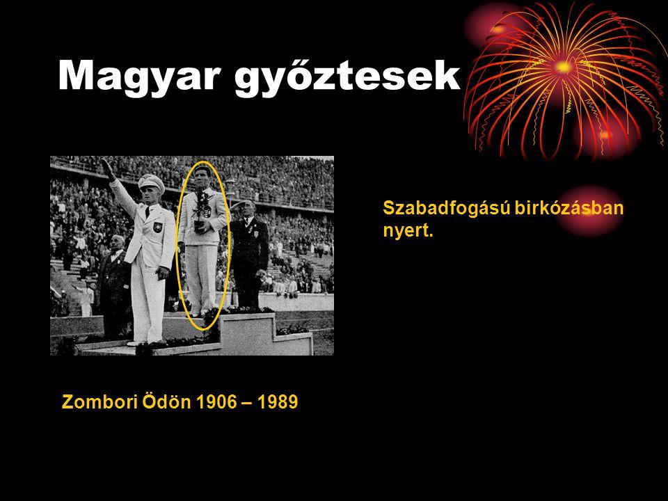 Magyar győztesek Szabadfogású birkózásban nyert.