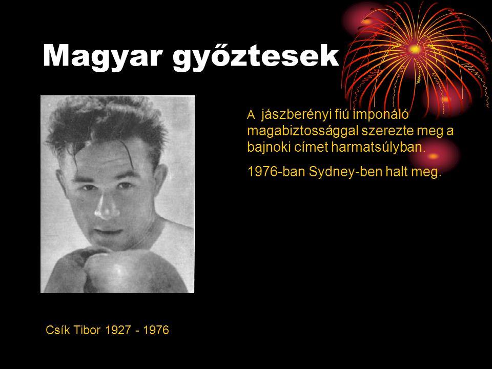 Magyar győztesek 1976-ban Sydney-ben halt meg.