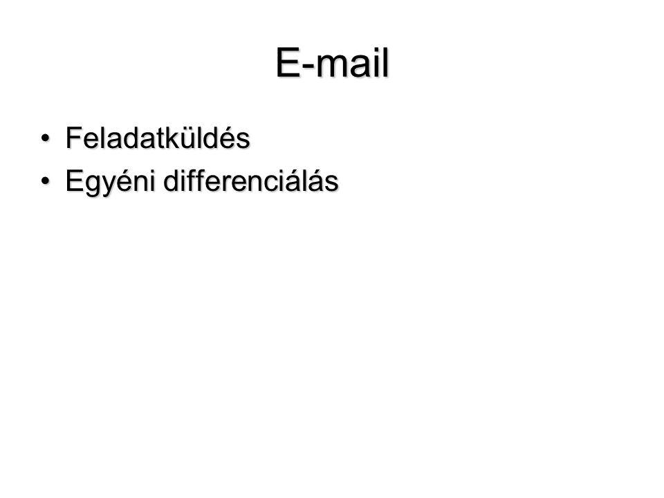 E-mail Feladatküldés Egyéni differenciálás