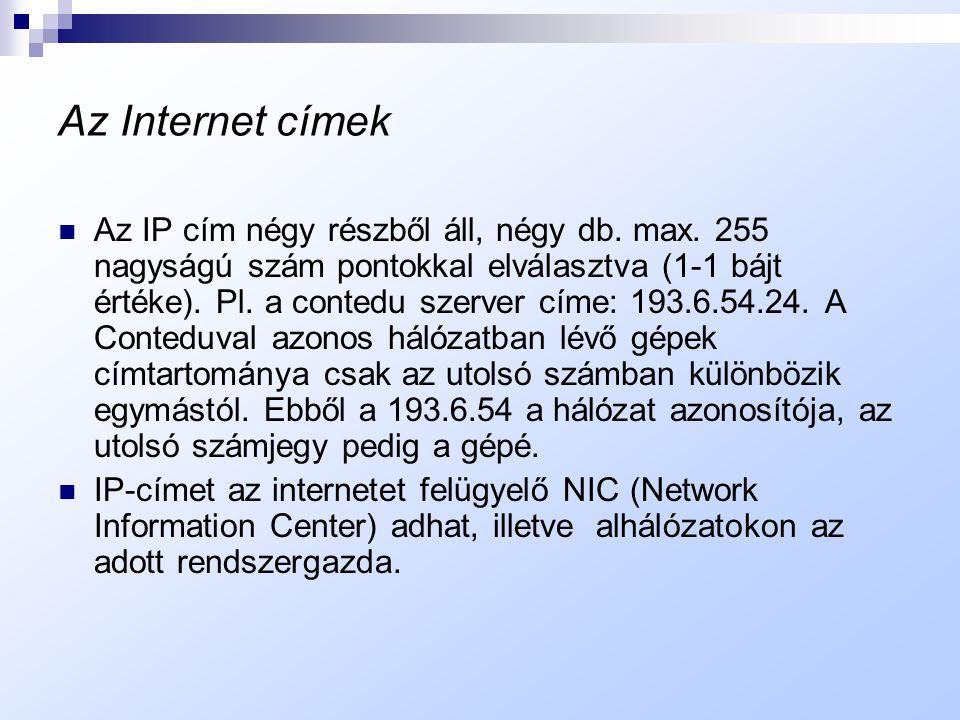 Az Internet címek