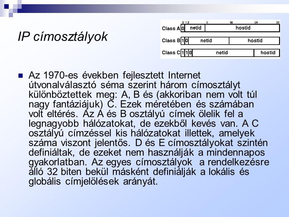 IP címosztályok