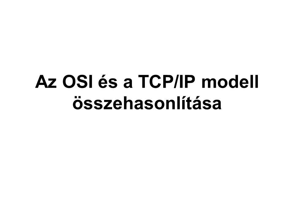 Az OSI és a TCP/IP modell összehasonlítása