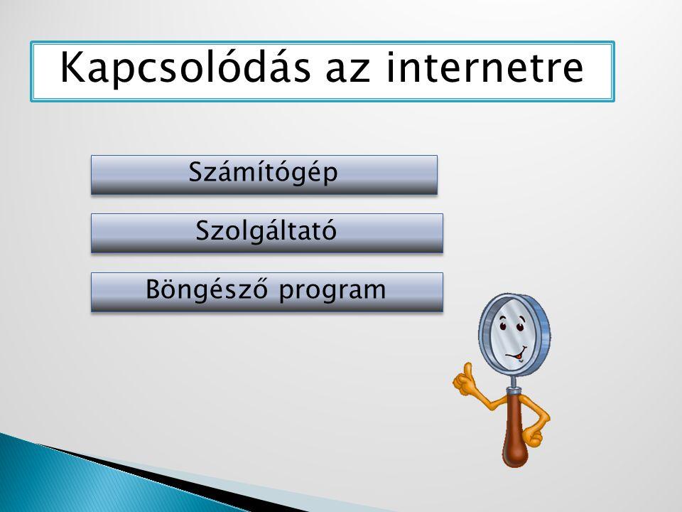 Kapcsolódás az internetre