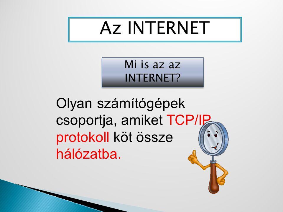 Az INTERNET Mi is az az INTERNET.