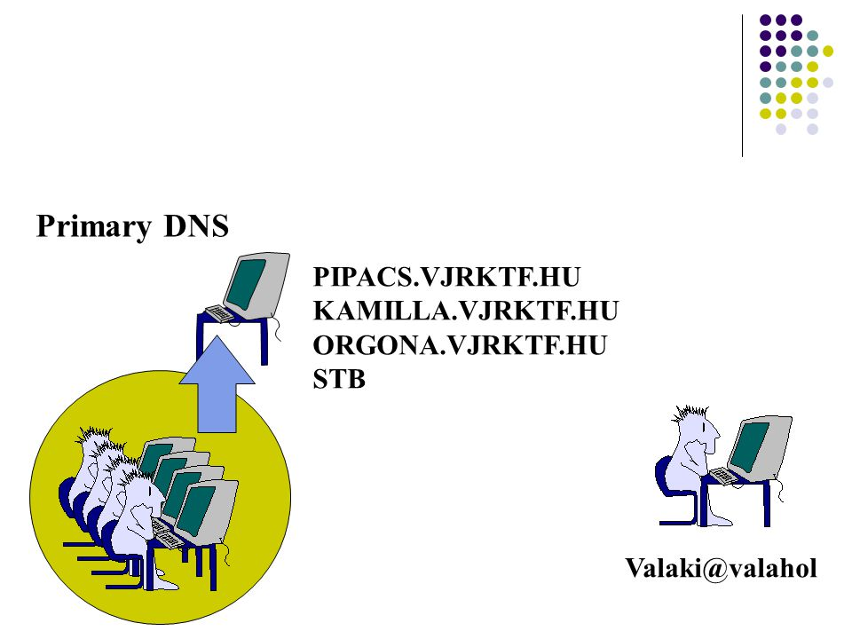 Primary DNS PIPACS.VJRKTF.HU KAMILLA.VJRKTF.HU ORGONA.VJRKTF.HU STB