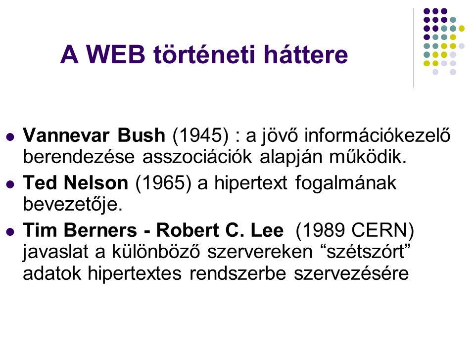 A WEB történeti háttere