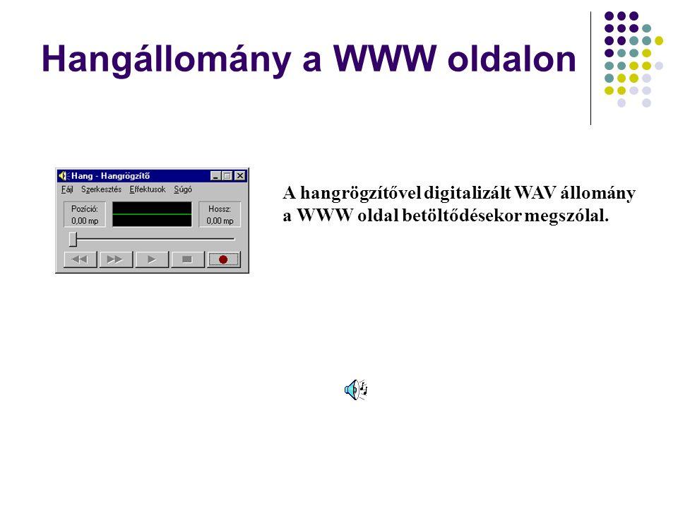 Hangállomány a WWW oldalon