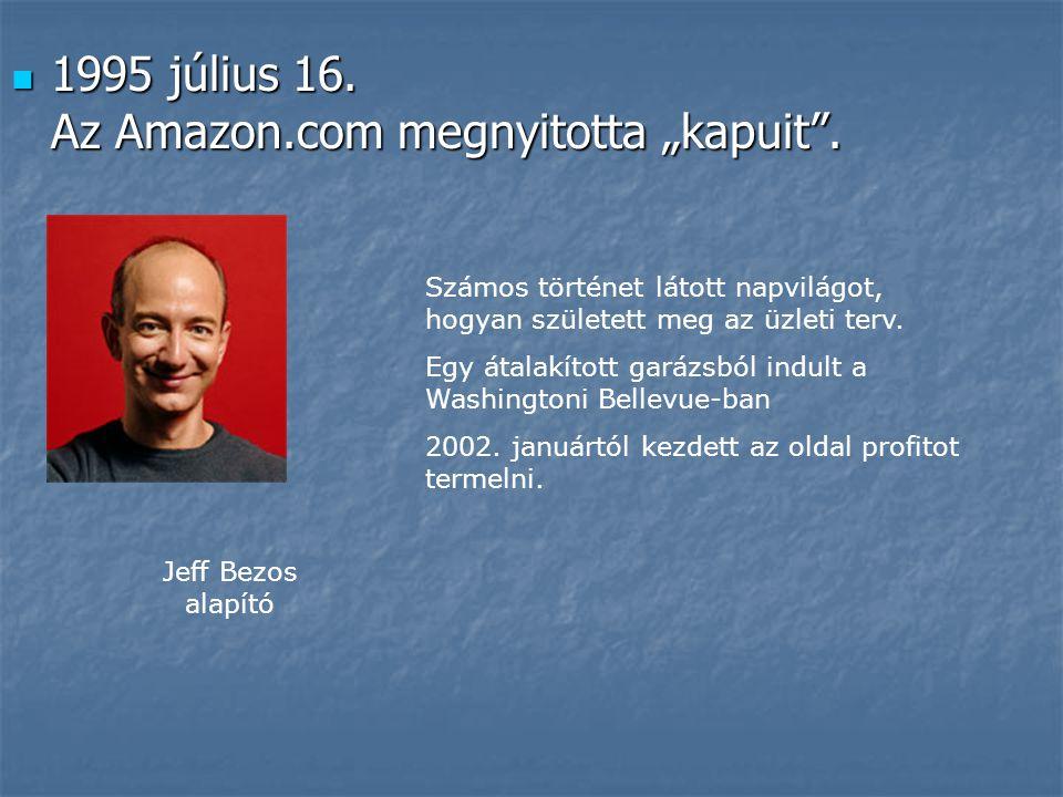 """1995 július 16. Az Amazon.com megnyitotta """"kapuit ."""
