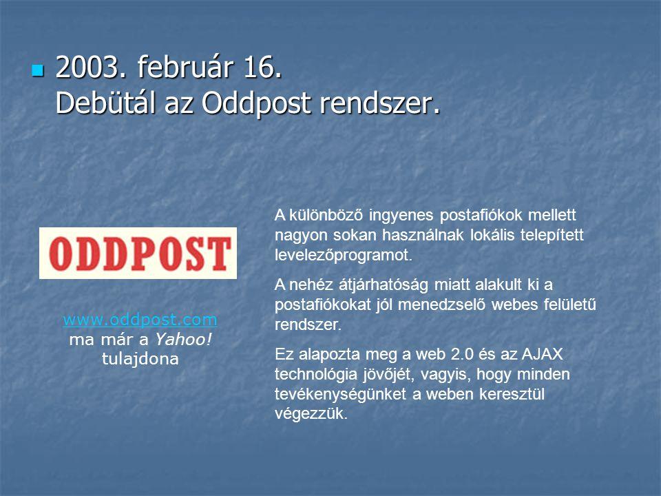 www.oddpost.com ma már a Yahoo! tulajdona