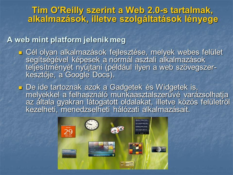 Tim O Reilly szerint a Web 2
