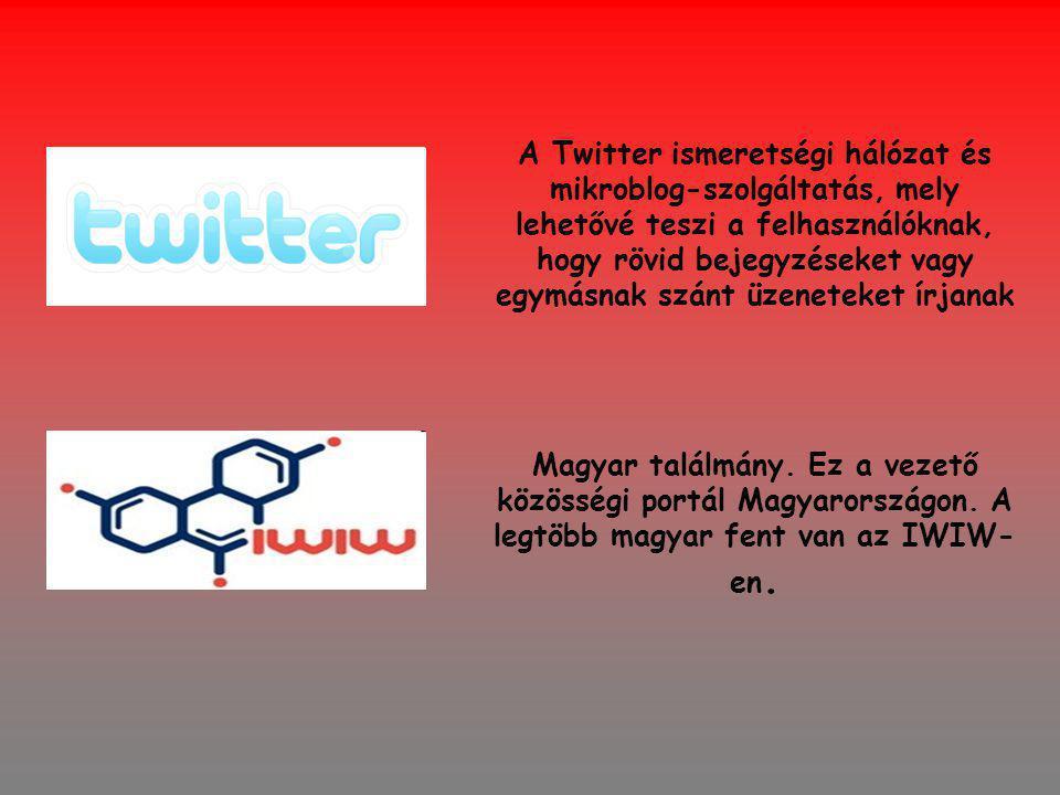 A Twitter ismeretségi hálózat és mikroblog-szolgáltatás, mely lehetővé teszi a felhasználóknak, hogy rövid bejegyzéseket vagy egymásnak szánt üzeneteket írjanak